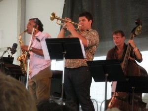 Saxophonist Rudesh Mahanthappa and company at Newport, 2014