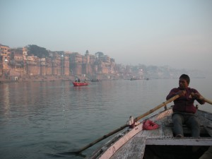 Morning on the River Ganges at Varanasi
